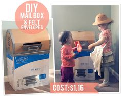 The Busy Budgeting Mama: DIY Cardboard Mailbox & Felt Envelopes Tutorial