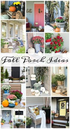 CLICK to see 13 beautiful and easy fall porch ideas to get your house ready for fall!