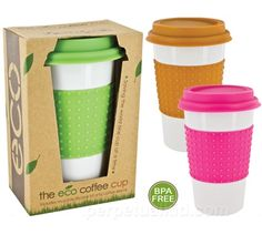 Colorful Eco Ceramic Coffee Cup- Need to get a couple of these for this winter. $9.99