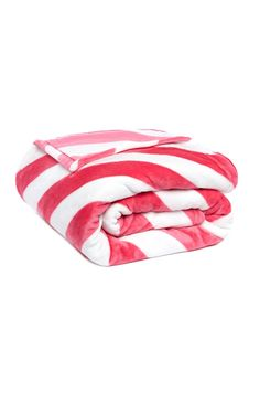 Primark - Pink And White Candy Stripe Throw