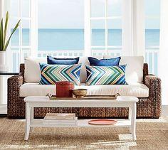 Seagrass Square Arm  Sofa #potterybarn