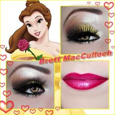 Princess Belle Inspired  By Brett MacCulloch http://www.makeupbee.com/look.php?look_id=81511