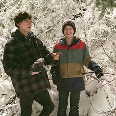 """[OLD] Photo of Tom with Percy Hynes White while filming""""Edge of Winter"""" on February 2015! - @tomholland2013 #tomholland #spiderman #peterparker #civilwar #spidermanhomecoming #edgeofwinter"""