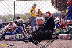 Jan Antoszewski watching his first races