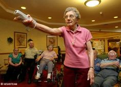 Wii can alleviate elder depression. Exercise stimulates cognitive skills and in this case allows for social engagement as well. Use when emphasizing need for exercise and social engagement among elderly.