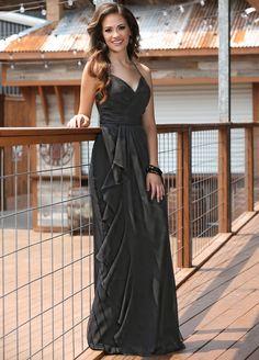 Breezy chiffon spans the slim A-line silhouette of Da Vinci 60198 Bridesmaid  Dress acbd92cfe590