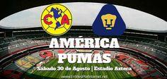 América vs Pumas En Vivo Jornada 7 Liga MX Apertura 2014 juegan hoy Sábado 30 de Agosto del 2014 a partir de las 17:00hrs.  Donde ver En Vivo: http://envivoporinternet.net/america-vs-pumas-en-vivo-30-de-agosto-liga-mx-apertura-2014/