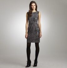 Printed Sequined Dress