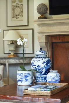 Blue and White porcelain was everywhere at High Point Furniture Market Spring Show