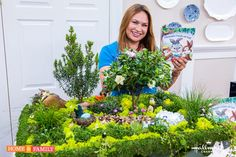 SET YOUR DVR'S FOR TOMORROW! Home & Family on Hallmark Channel USA at 10am pst. Shirley creates a large tabletop miniature garden filled with surprises for a family Easter treasure hunt! EdenMakers.com