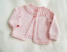 Sewing Patterns For Kids Baby Knitting Patterns Baby Patterns Sewing For Kids Newborn Crochet Crochet Baby Knit Crochet Baby Cardigan Knitting For Kids Baby Cardigan Knitting Pattern, Knitted Baby Cardigan, Knit Baby Sweaters, Knitted Baby Clothes, Girls Sweaters, Baby Knitting Patterns, Baby Patterns, Vogue Knitting, Lace Knitting