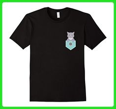 Mens Cat In Pocket T-Shirt Cats and Kittens Meow or Never Feline 2XL Black - Animal shirts (*Amazon Partner-Link)