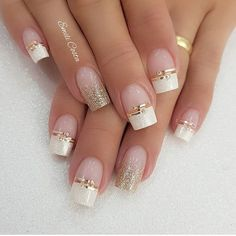 100 Beautiful wedding nail art ideas for your big day - Kristina S. - 100 Beautiful wedding nail art ideas for your big day 100 Beautiful wedding nail art ideas for your big day - wedding nails bride nails nail art romantic nails pink nails - Romantic Nails, Elegant Nails, Classy Nails, Stylish Nails, Cute Acrylic Nails, Acrylic Nail Designs, Nail Art Designs, Cute Nails, Elegant Nail Designs