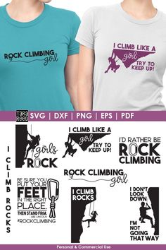 [Promotion] Looking for Girl's Rock Climbing designs for for crafting? This is the svg and cut file bundle for you! Climbing Girl, Rock Climbing, Silhouette Files, Silhouette Cameo, Like A Rock, Girls Be Like, Design Bundles, Design Crafts, Cutting Files