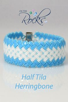 I ran across this at the last Atlanta show. I love the slinky feel that the Half Tilas give to the herringbone design. Beading Patterns Free, Beading Tutorials, Free Pattern, Beading Ideas, Herringbone Stitch, Herringbone Pattern, Jewelry Art, Beaded Jewelry, Handmade Jewelry