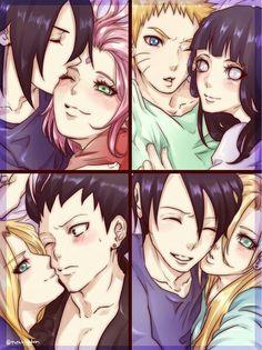 SasuSaku, NaruHina, ShikaTema  e SaiIno