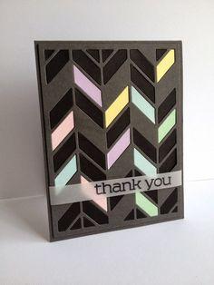card geometric shapes  Thank you card