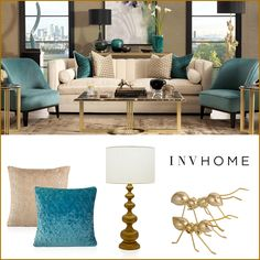 #INVHome #WebBoutique A perfect blend of taupe and teal will give your living room a chic and elegant ambience. Accessorizing this setting with some suttle cushions & decor pieces to add a character and make your setting ready for praises. Shop Premium Home Linen & Decor Accents online: http://www.invhome.in/ #InteriorDesign #Decorations #HomeDecor #PremiumLinen #Decor