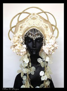 MADE TO ORDER Empress Headdress by MissGDesignsShop on Etsy, $400.00