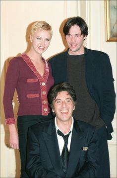 "Charlize Theron, Keanu Reeves and Al Pacino from ""Devil's Advocate"""