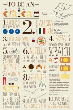 The ultimate Guide to be an ITALIAN  by Sasha Netchaev https://www.behance.net/gallery/To-Be-An-Italian/10323269