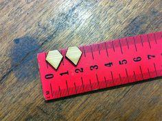 25 PAIR LISTING Mini Gem Wooden Laser Cut Earring Supplies