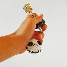Jack Skellington Keychain Crochet Pattern (FREE) - http://pinterest.com/Allcrochet