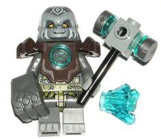 LEGO CHIMA GRUMLO GORILLA MINIFIGURE w/ Armor/Jewel/Fist/Hammer