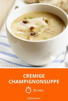 Cremige Champignonsuppe - Rebel Without Dinner Ideas Hamburger Meat, Hamburger Meat Recipes Ground, Meat Recipes For Dinner, Creamy Mushroom Soup, Creamy Mushrooms, Stuffed Mushrooms, Stuffed Peppers, Healthy Meat Recipes, Crockpot Recipes