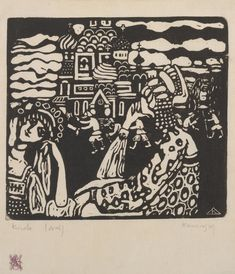 "guggenheim-art: "" Church by Vasily Kandinsky by Guggenheim Museum Size: 13.3x14.7 cm Medium: WoodcutThe Hilla von Rebay Foundation, On extended loan to the Solomon R. Guggenheim Museum, New York © 2014 Artists Rights Society (ARS), New York/ADAGP,..."