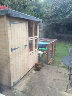 Handmade  Solid rabbit shed and Rabbit Run, perfect Bunny Home  Handmade by Boyles Pet HOusing