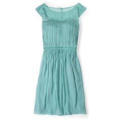 Boden Eva Dress ($59) ❤ liked on Polyvore featuring dresses, aquarium, sexy dresses, boden, blue dress, sexy blue dresses and blue draped dress