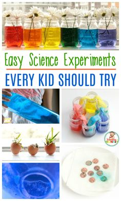 The Ultimate List of Science Experiments for Kids Looking for science experiments for kids? These school science projects for kids are the perfect science projects for kids to use for school science fairs and science learning with kids! Kindergarten Science Experiments, Easy Science Experiments, Preschool Science, Science Fun, Science Lessons, Summer Science, Science Fiction, Science Table, Kindergarten Stem