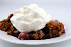 Cherry Blueberry Crumble