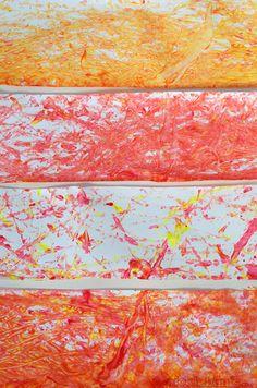 Shaker Painting - an easy, low mess, art activity from @Kathryn Whiteside Whiteside Pickle
