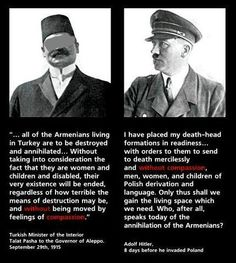 Talat Pasha on the Armenian question & Adolf Hitler on the polish invasion and the Jewish question. the Turkish government denies these facts! Armenian History, Armenian Culture, Armenian News, Armenian Alphabet, Modus Operandi, By Any Means Necessary, Bad News, Death, Facts
