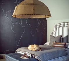 Global chalkboard mural