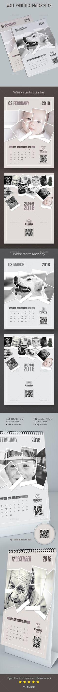 Wall Photo Calendar 2018