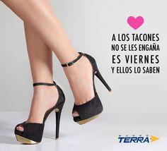 Amámos los viernes y los tacones. Compra en línea en www.mundoterra.com