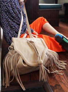 Khaki Messenger Satchels Bag With Tassel$38.00 Shoulder Backpack, School Bags, Bucket Bag, Tassels, Backpacks, Satchel Bag, Satchels, Skull, Clothes