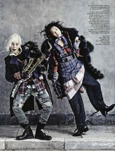 """Street to Street"": Homeless Chic with Kim Sung-Hee and G-Dragon by Kim Bo-Sung for Vogue Korea August 2013 