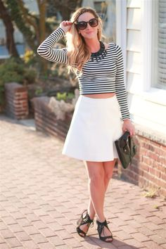 Stripes and crop tops area must for #MDW!