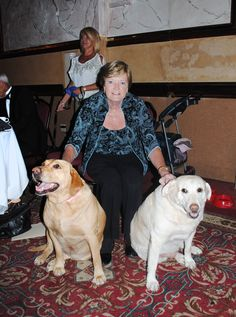 Pat Summitt, University of Tennessee women's basketball Head Coach Emeritus, with her dogs, Sadie and Sally