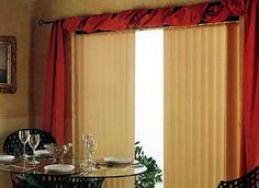 vertical blinds and curtains together | ... over the top of the window, along with blind. This is an example