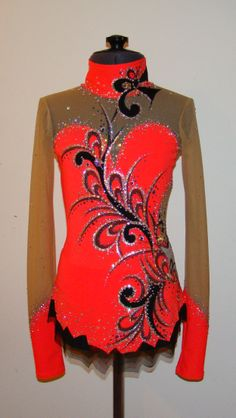 hot coral and black