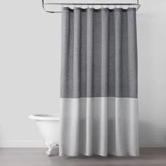 Shop Target for shower curtains, shower curtain liners and other accessories. Free shipping on orders $35+ and free pick-up in store. Gray Shower Curtains, Grey Curtains, Industrial Showers, Masculine Bathroom, Curtain Accessories, Bathroom Accessories, Chip And Joanna Gaines, Easy Install, Shower Tub