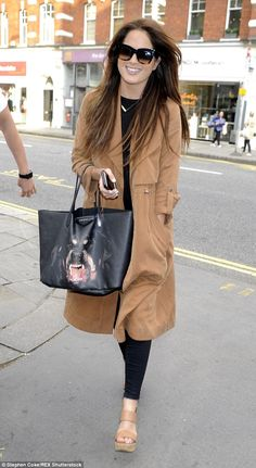 Chic: Made In Chelsea star BinkyFelstead stepped out in style at The Maggie's Club Pop-Up Launch Party in London on Tuesday evening