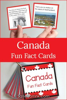 Discover fascinating fun facts about Canada Canadian people Canadian places Canadian history and more. Students enjoy these cards as part of a bulletin board circle time calendar time morning meeting your morning basket or on a ring just to read for fun. Canadian Facts, Canadian History, Canadian People, Canadian Symbols, Canada Facts For Kids, Fun Facts About Canada, Preschool Lessons, Preschool Classroom, Lessons For Kids