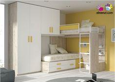 Habitación Infantil con Litera Block y Armario 2p