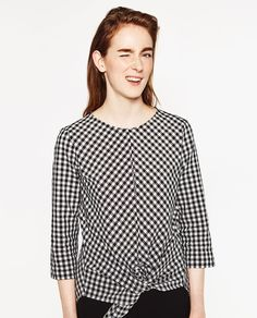 GINGHAM BLOUSE-Blouses-TOPS-WOMAN | ZARA United States